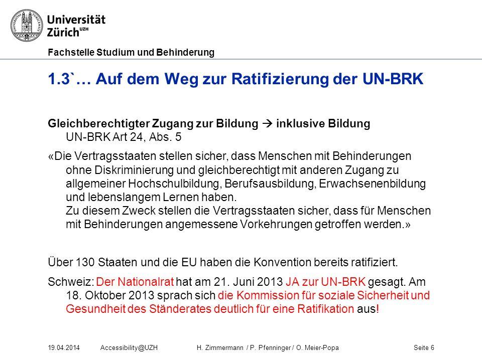1.3`… Auf dem Weg zur Ratifizierung der UN-BRK