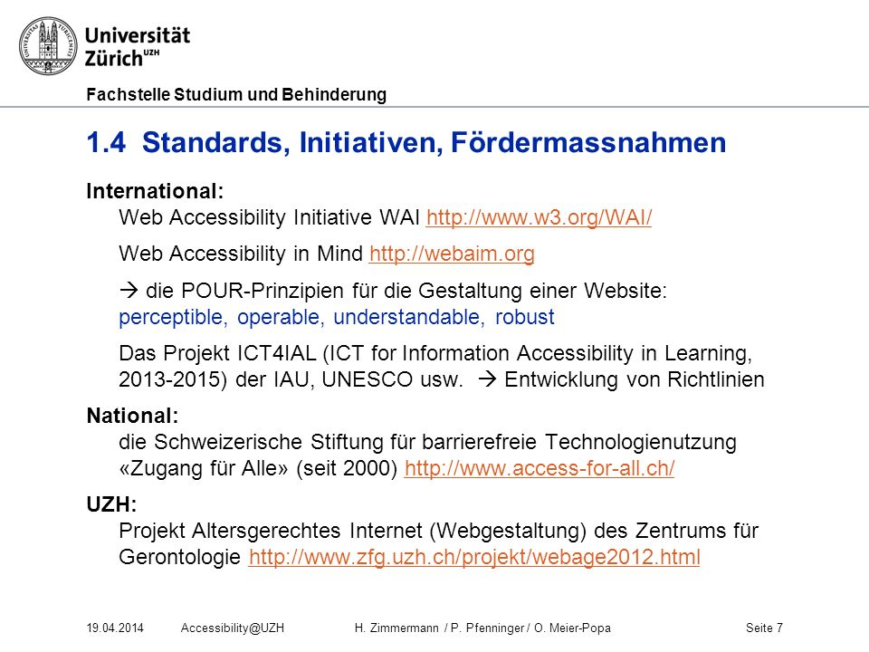 1.4 Standards, Initiativen, Fördermassnahmen