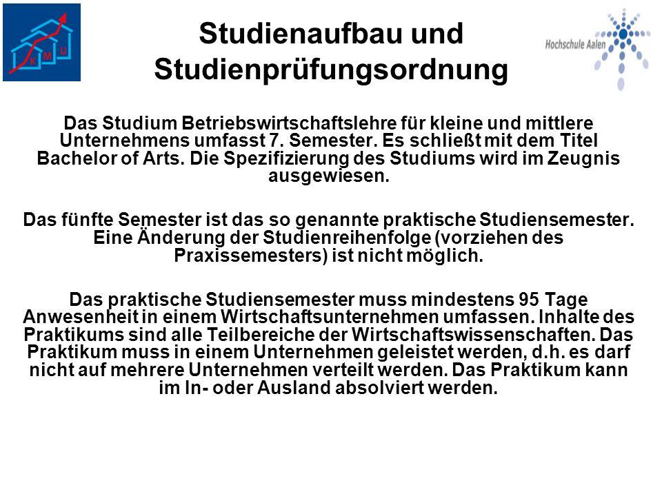 Studienaufbau und Studienprüfungsordnung