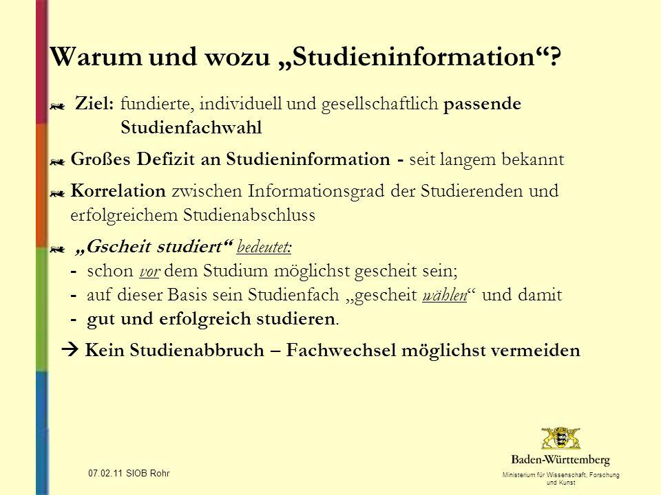 """Warum und wozu """"Studieninformation"""
