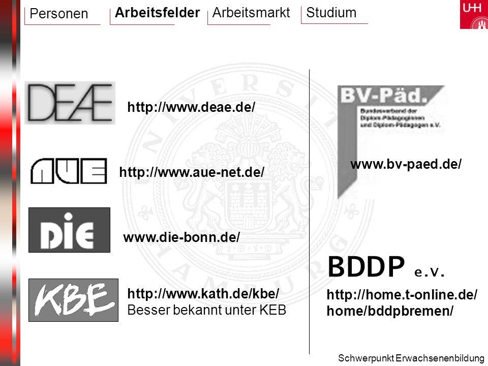 BDDP e.V. Arbeitsfelder Arbeitsmarkt Studium Personen