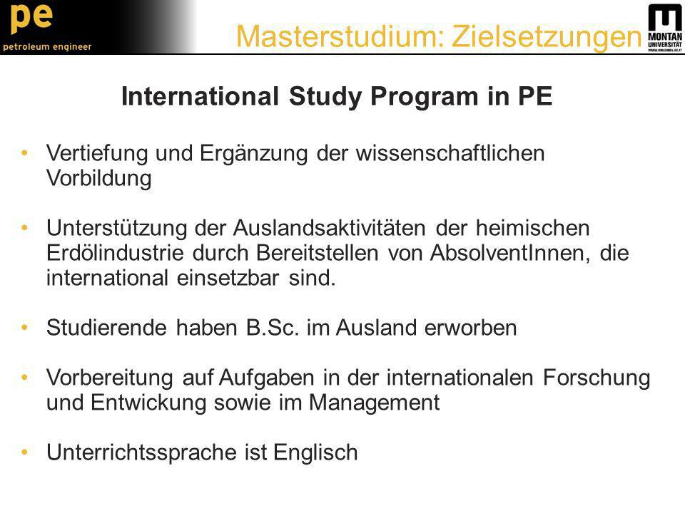 International Study Program in PE