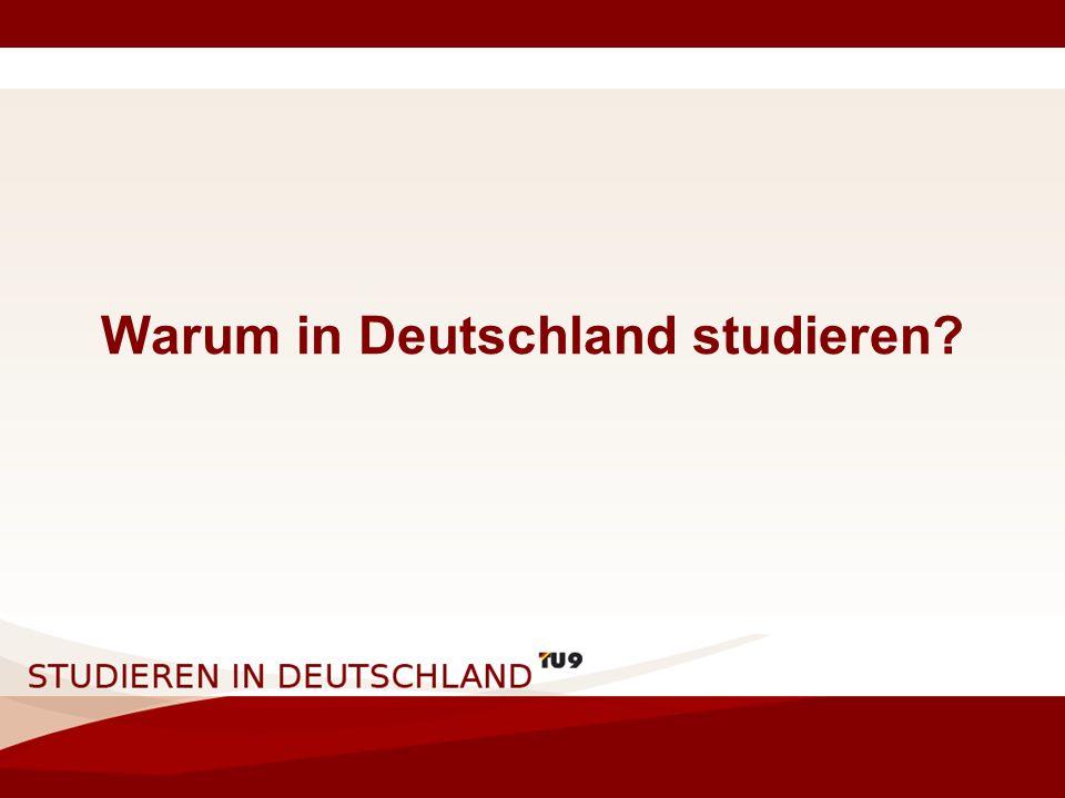 Warum in Deutschland studieren