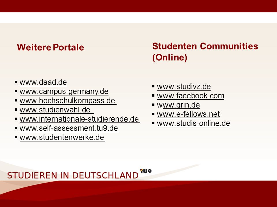 Studenten Communities (Online)