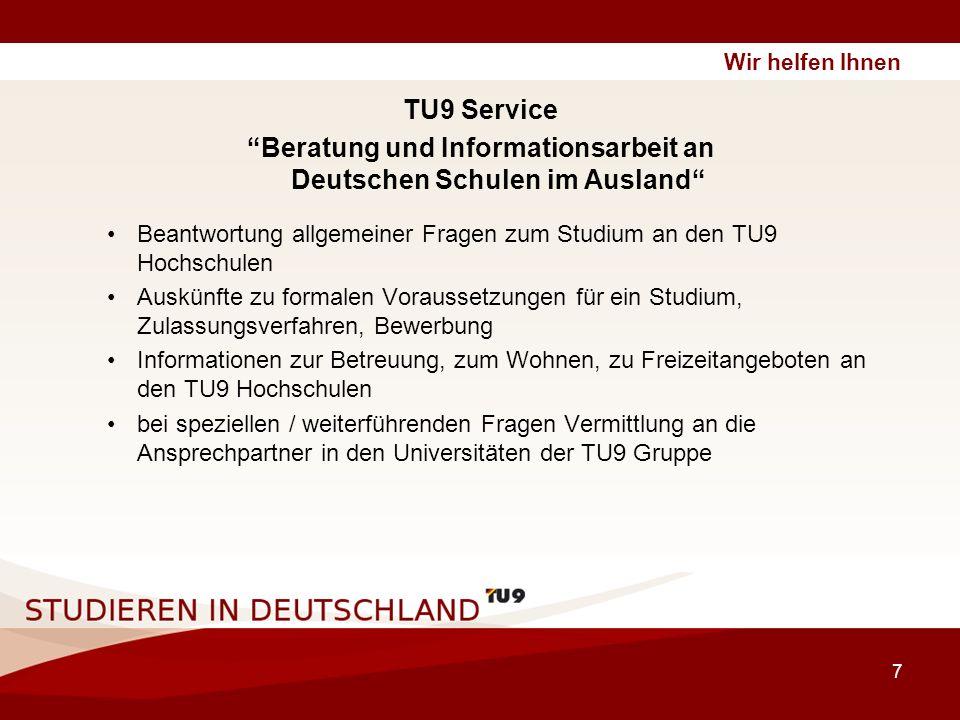 Beratung und Informationsarbeit an Deutschen Schulen im Ausland