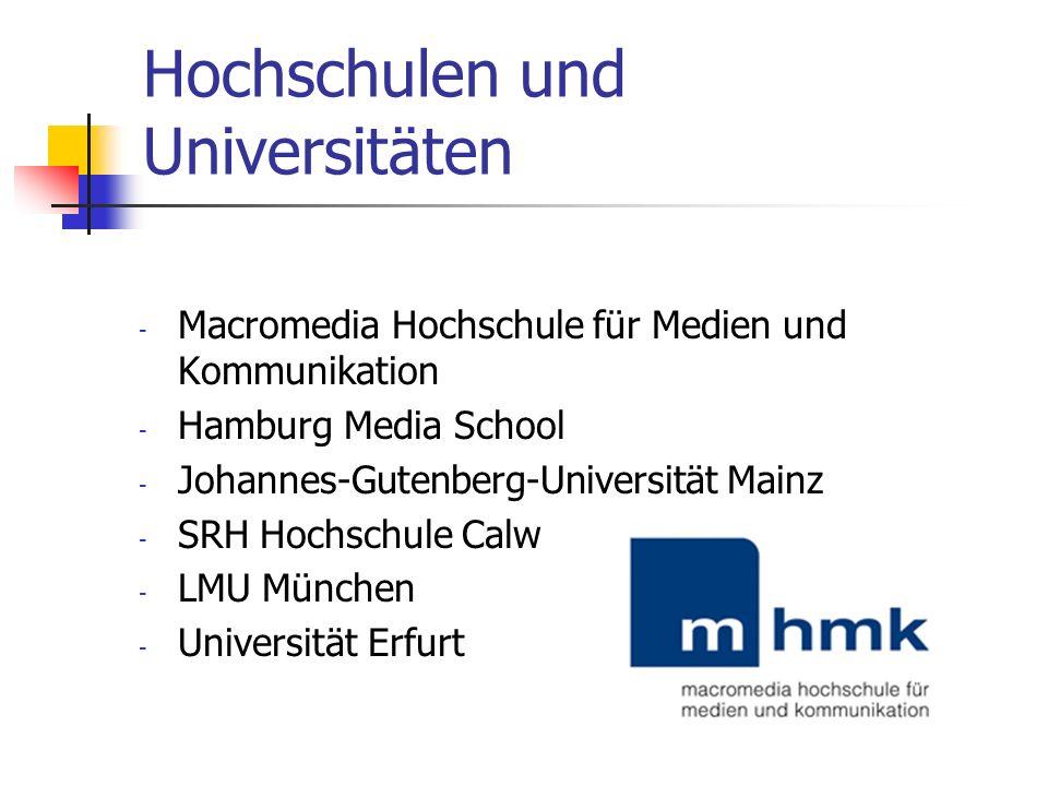 Hochschulen und Universitäten