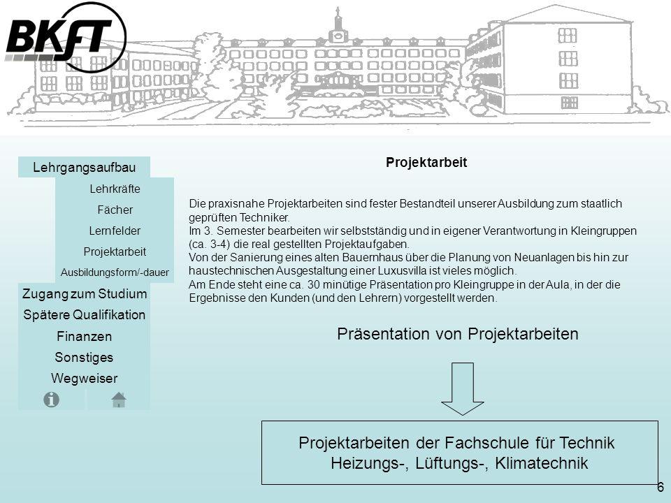 Präsentation von Projektarbeiten