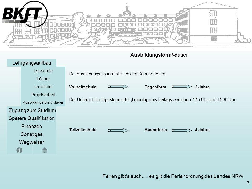 Ausbildungsform/-dauer