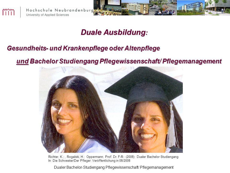 Duale Ausbildung: Gesundheits- und Krankenpflege oder Altenpflege