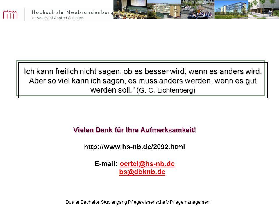 Vielen Dank für Ihre Aufmerksamkeit! E-mail: oertel@hs-nb.de