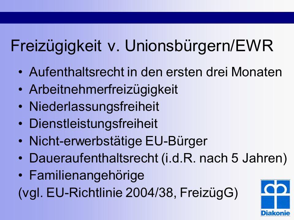 Freizügigkeit v. Unionsbürgern/EWR