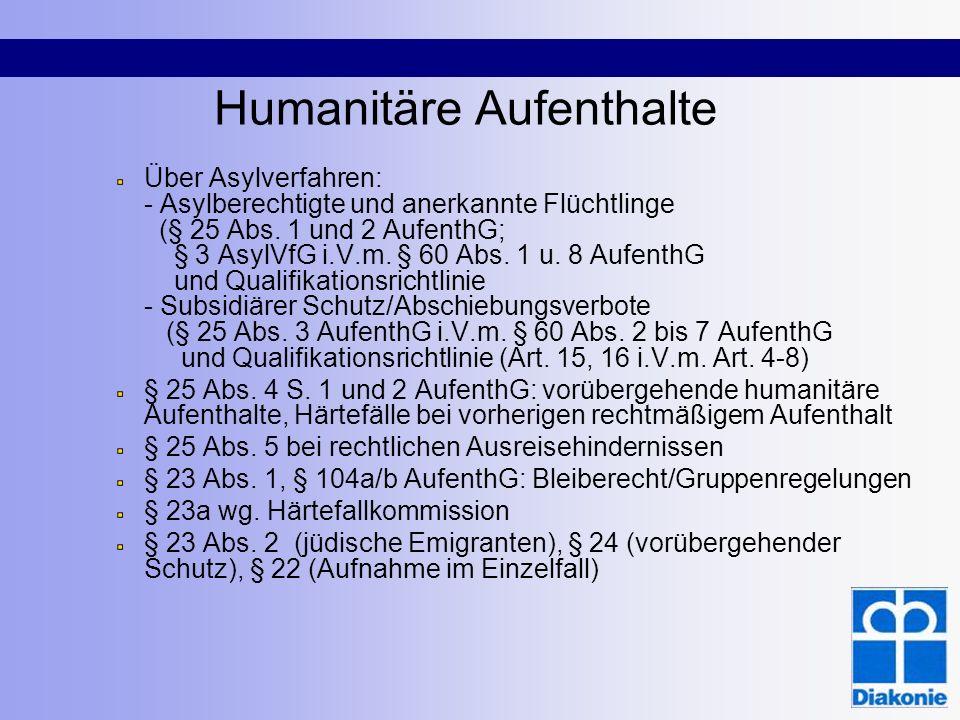 Humanitäre Aufenthalte