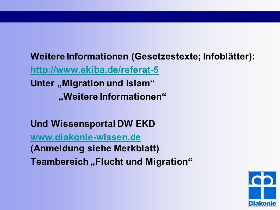 Weitere Informationen (Gesetzestexte; Infoblätter):