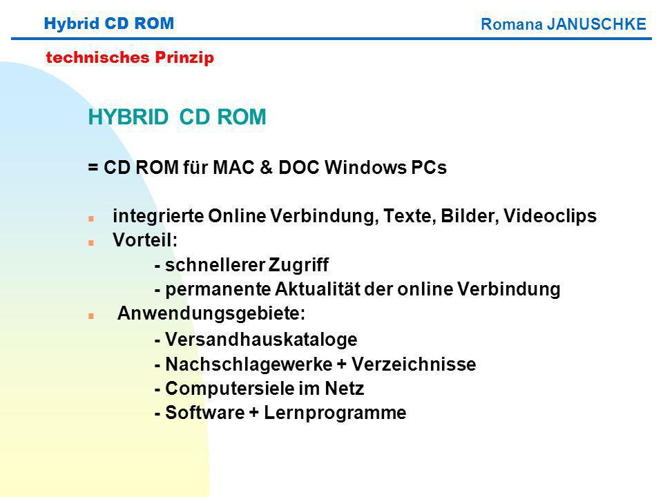 HYBRID CD ROM - Versandhauskataloge = CD ROM für MAC & DOC Windows PCs