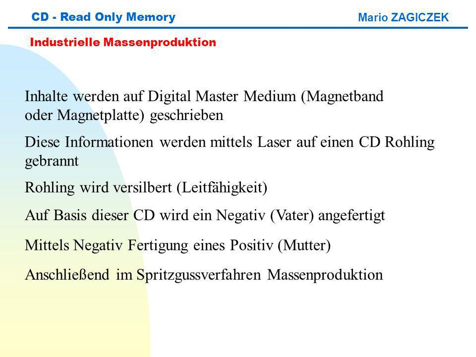 Inhalte werden auf Digital Master Medium (Magnetband