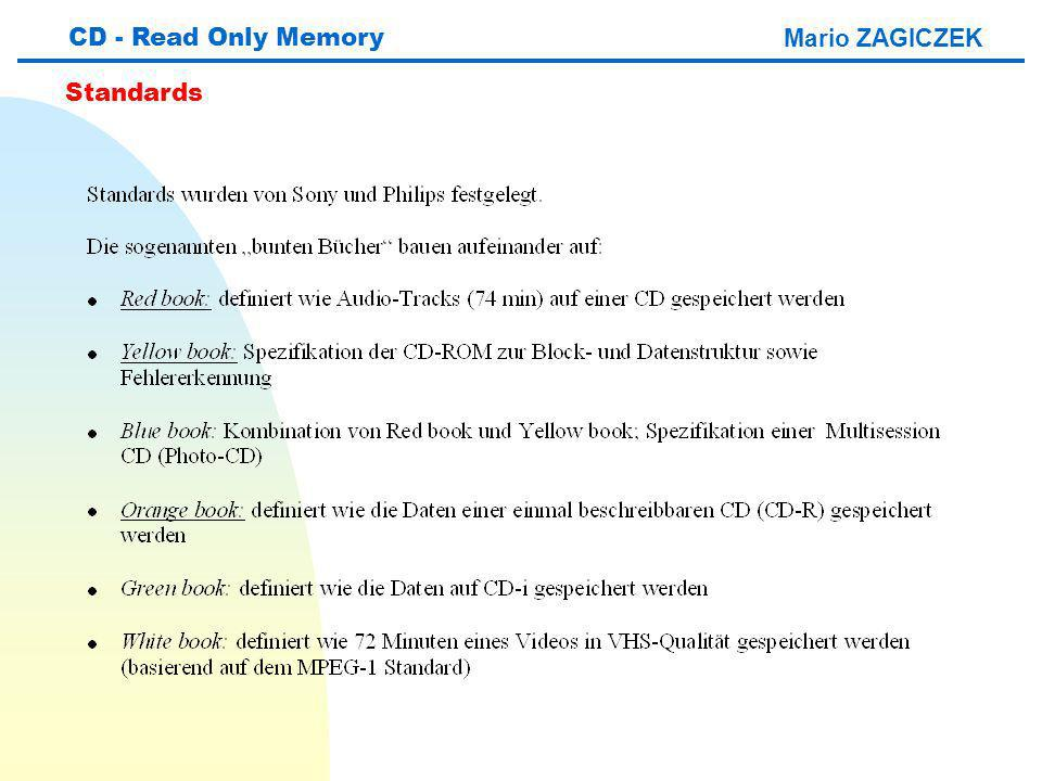 CD - Read Only Memory Mario ZAGICZEK Standards