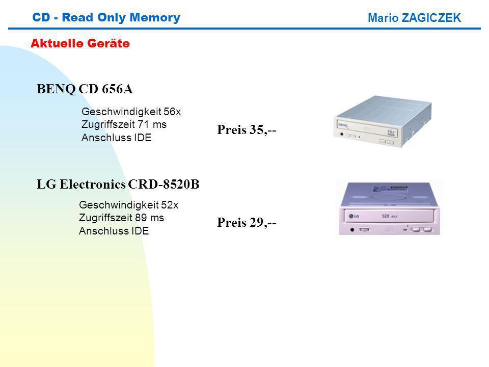 BENQ CD 656A Preis 35,-- LG Electronics CRD-8520B Preis 29,--