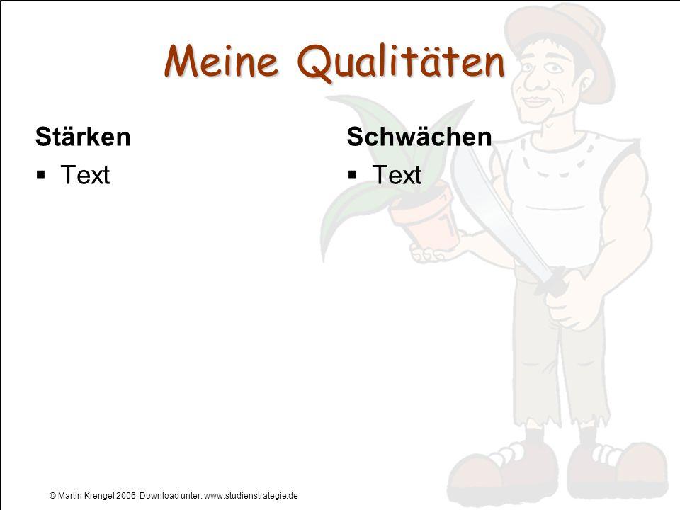 © Martin Krengel 2006; Download unter: www.studienstrategie.de