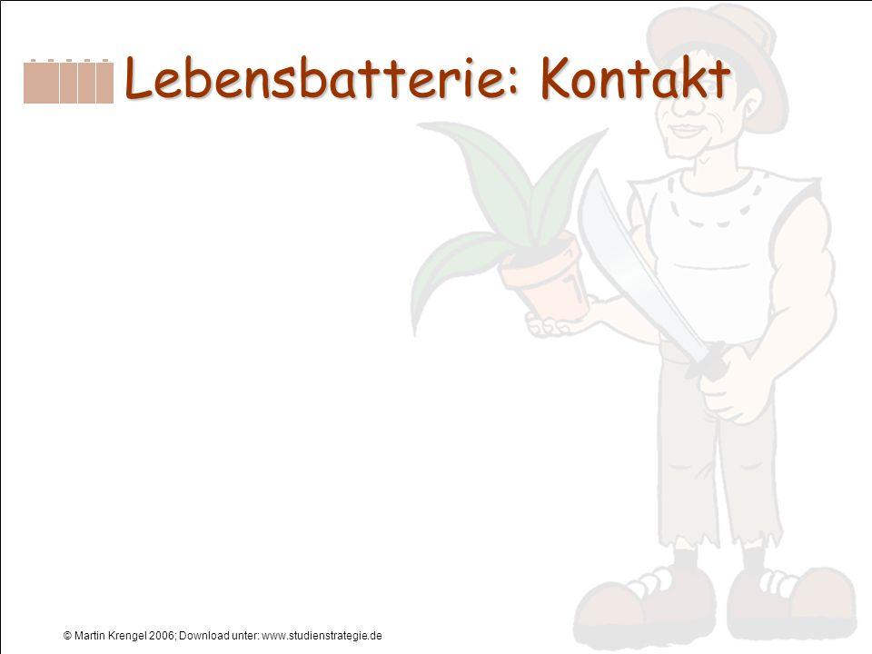 Lebensbatterie: Kontakt