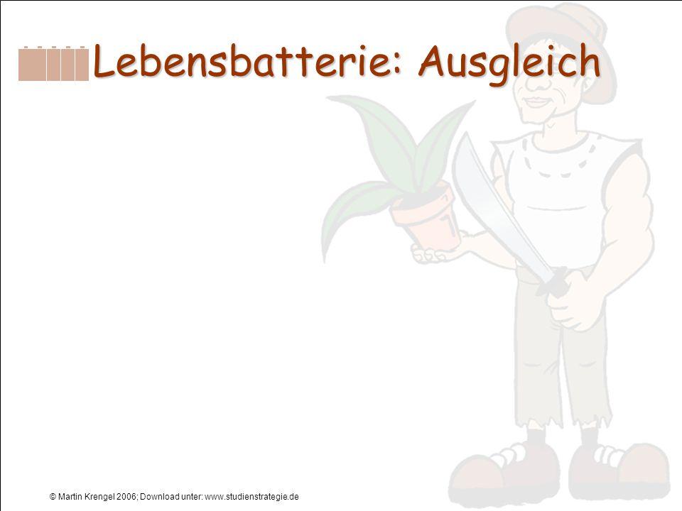 Lebensbatterie: Ausgleich