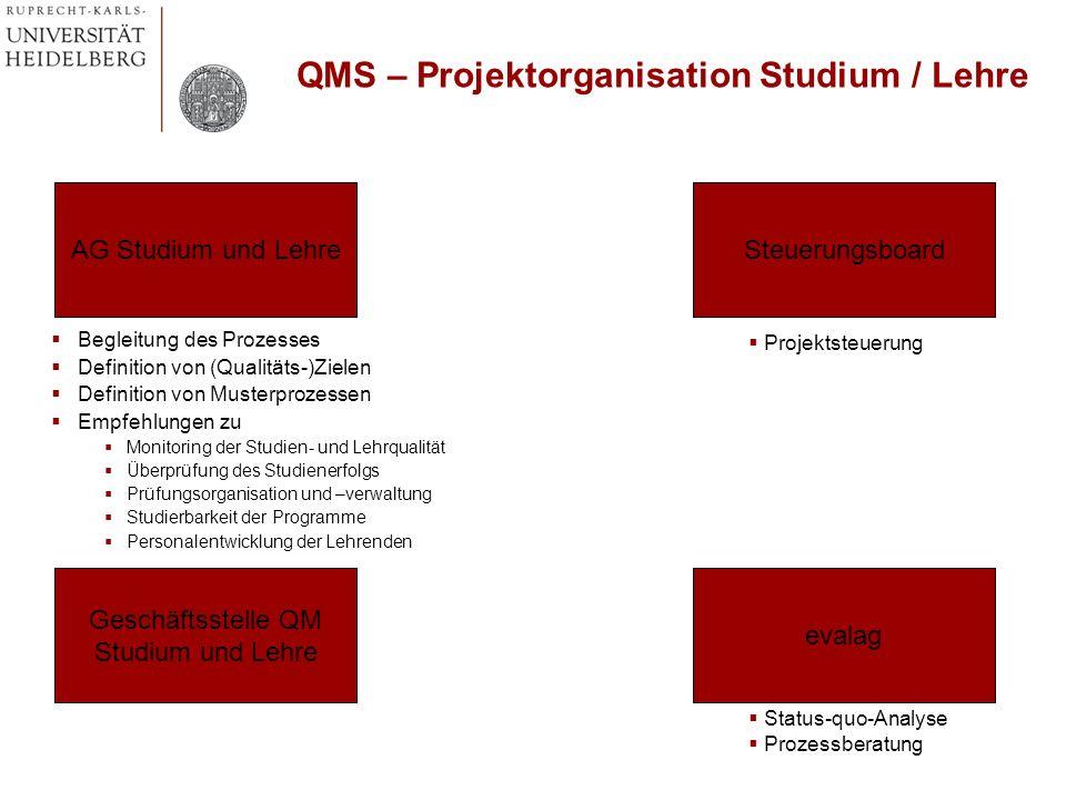 QMS – Projektorganisation Studium / Lehre