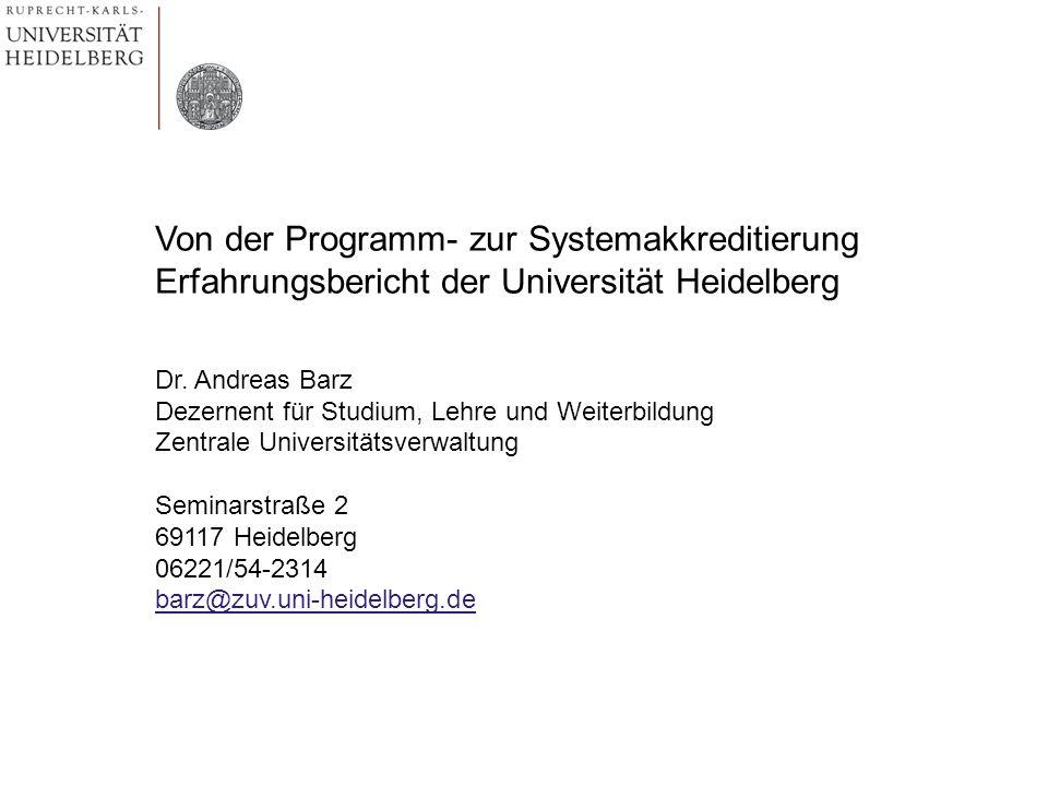 Von der Programm- zur Systemakkreditierung