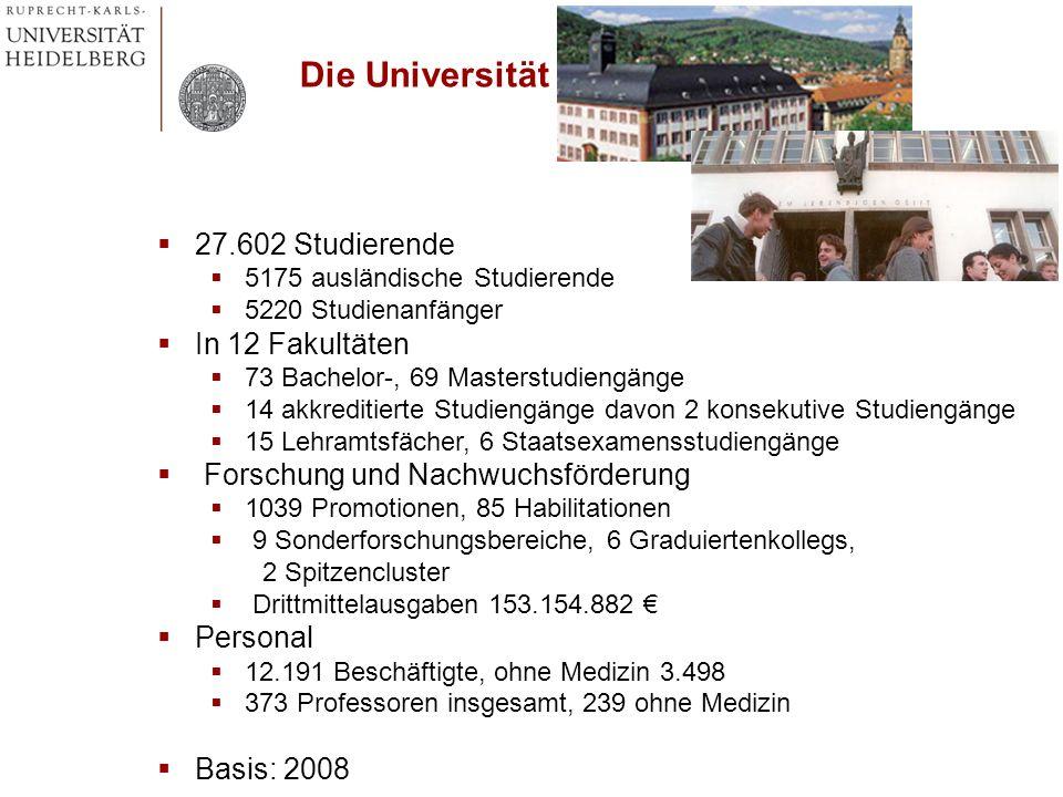 Die Universität 27.602 Studierende In 12 Fakultäten