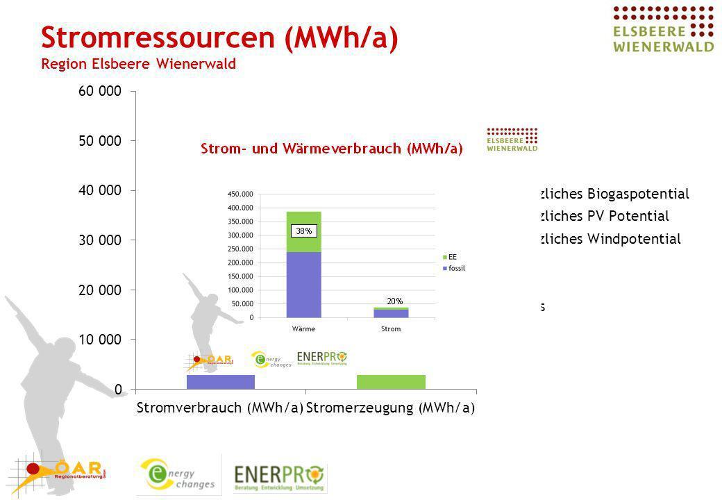 Stromressourcen (MWh/a) Region Elsbeere Wienerwald