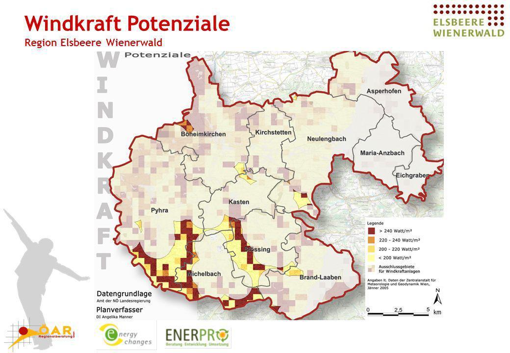 Windkraft Potenziale Region Elsbeere Wienerwald
