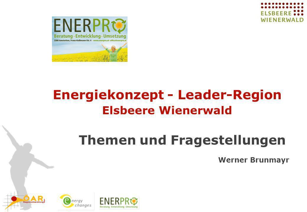 Energiekonzept - Leader-Region Elsbeere Wienerwald