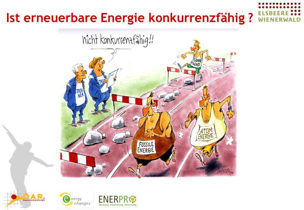 Ist erneuerbare Energie konkurrenzfähig