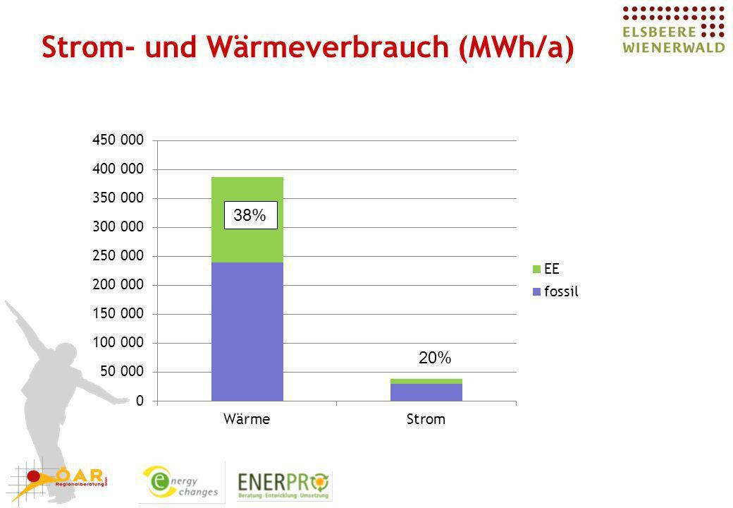 Strom- und Wärmeverbrauch (MWh/a)
