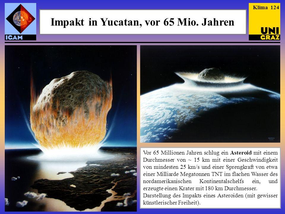 Impakt in Yucatan, vor 65 Mio. Jahren