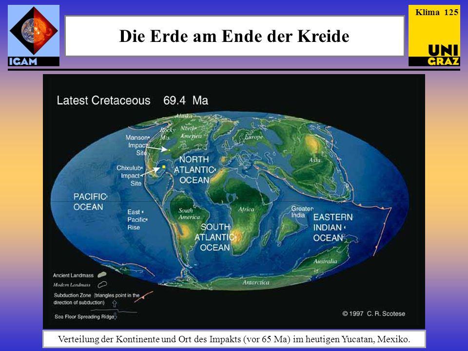 Die Erde am Ende der Kreide