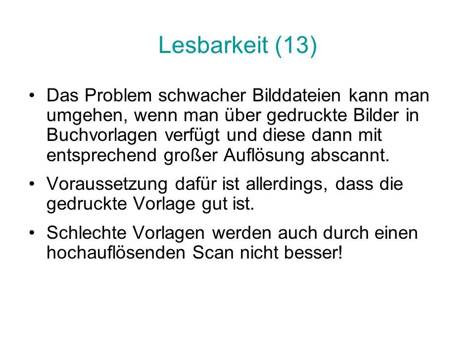 Lesbarkeit (13)