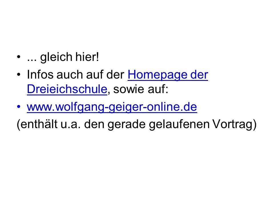 ... gleich hier! Infos auch auf der Homepage der Dreieichschule, sowie auf: www.wolfgang-geiger-online.de.