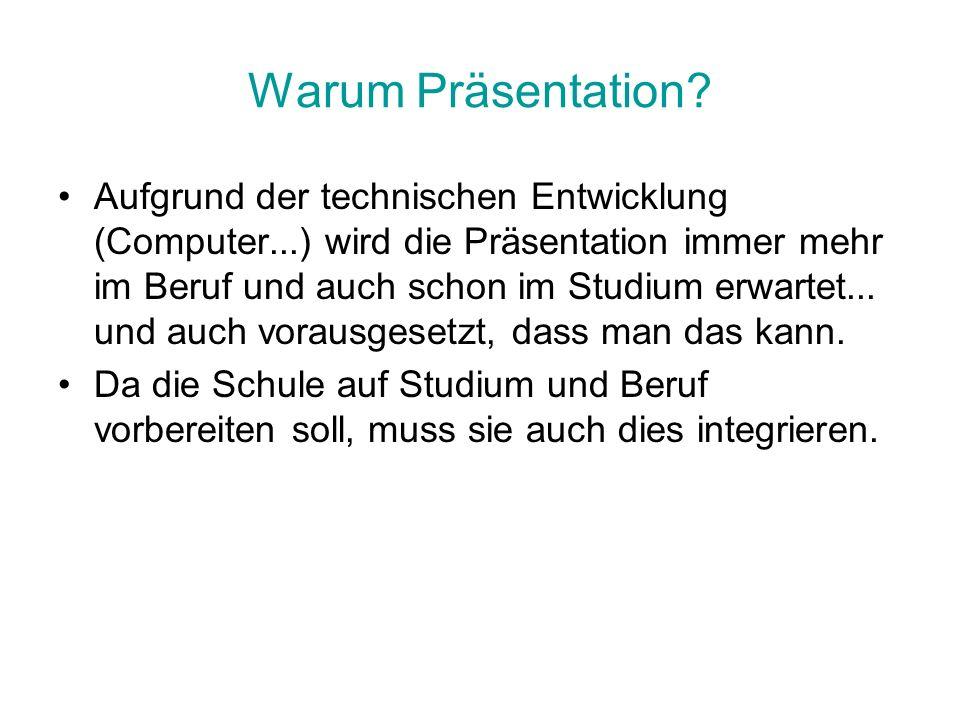Warum Präsentation