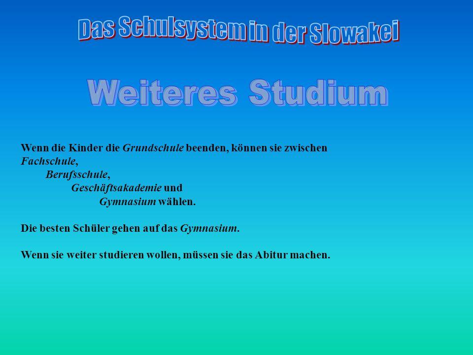 Das Schulsystem in der Slowakei