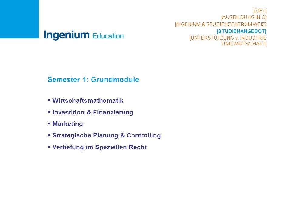 Semester 1: Grundmodule