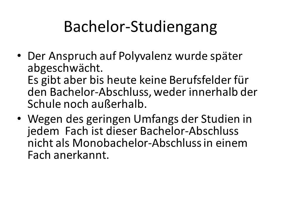 Bachelor-Studiengang