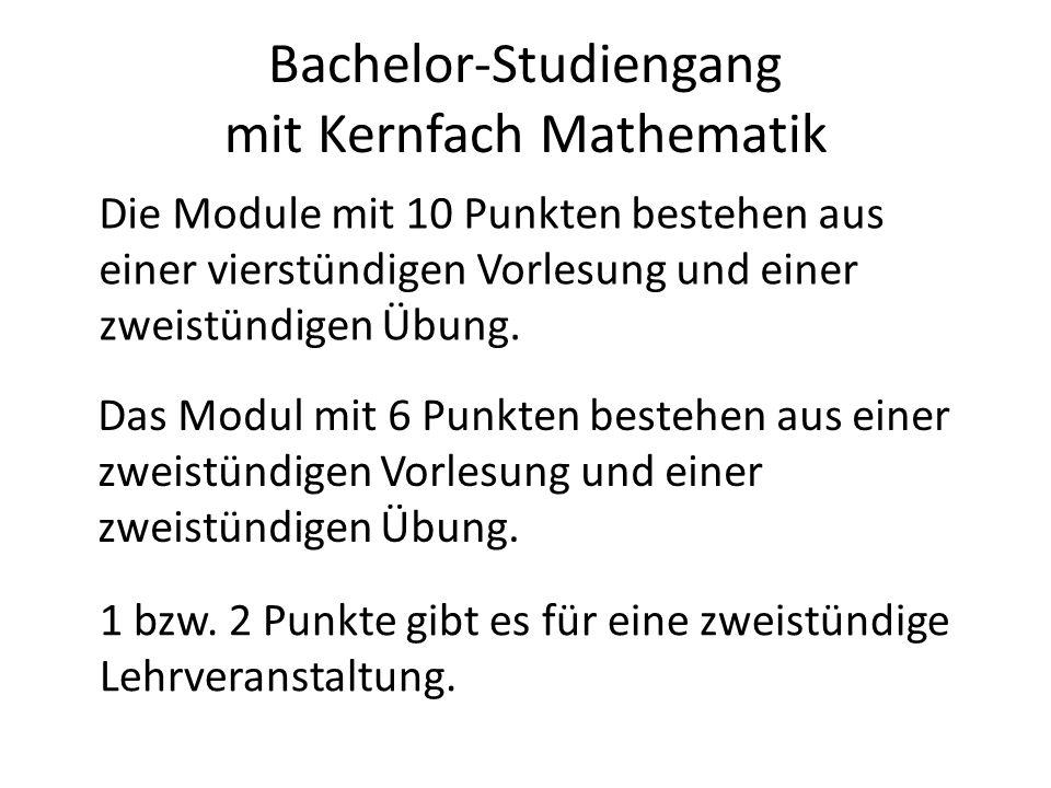 Bachelor-Studiengang mit Kernfach Mathematik