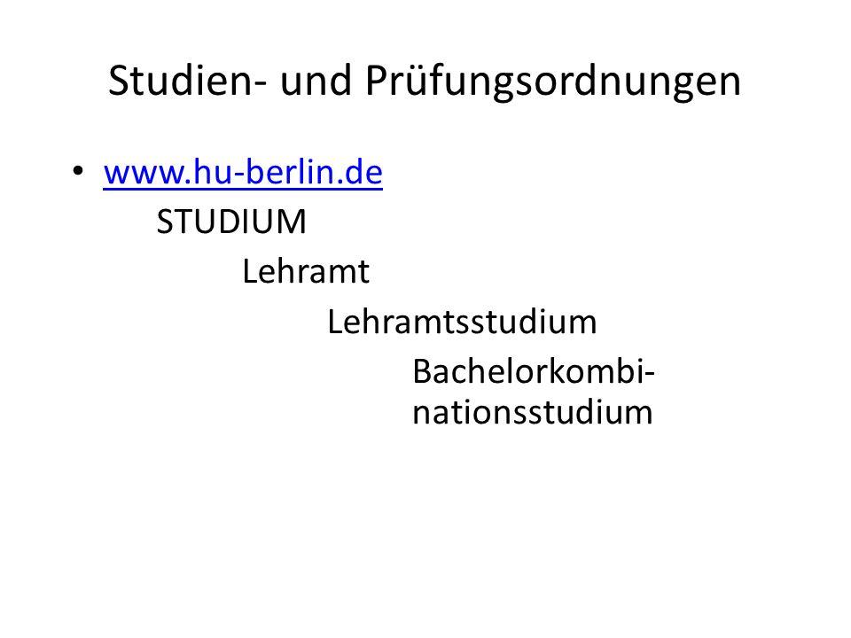 Studien- und Prüfungsordnungen