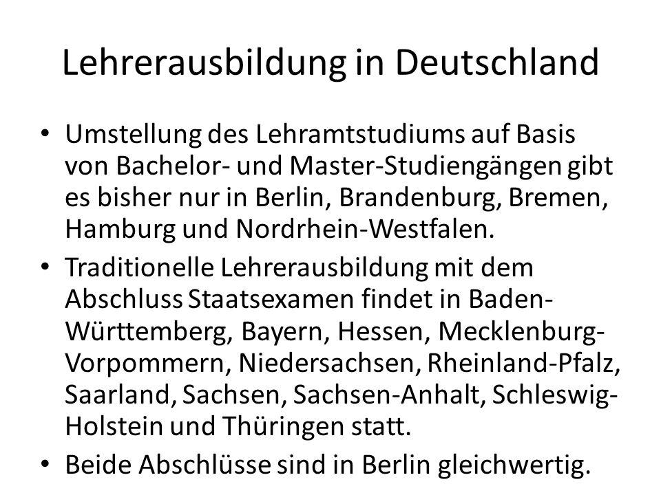 Lehrerausbildung in Deutschland