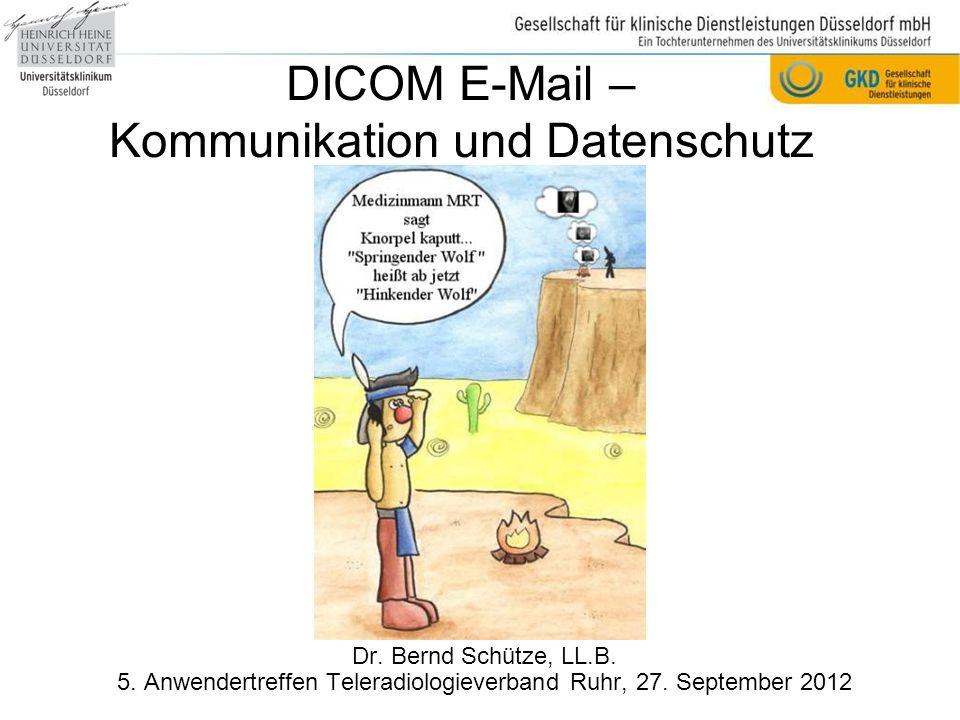 DICOM E-Mail – Kommunikation und Datenschutz