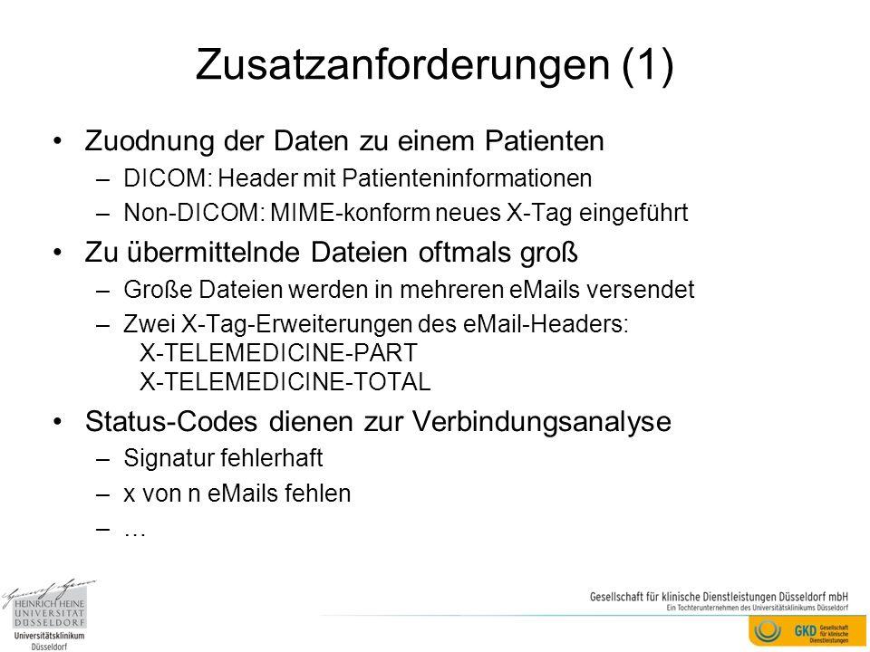 Zusatzanforderungen (1)