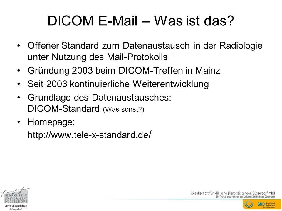DICOM E-Mail – Was ist das