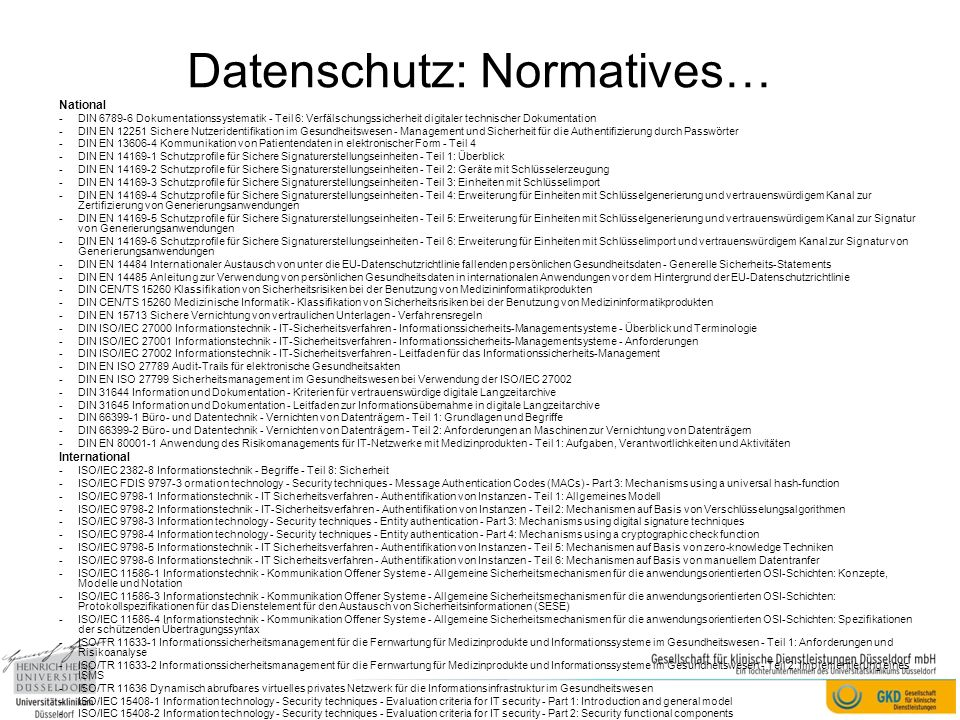 Datenschutz: Normatives…