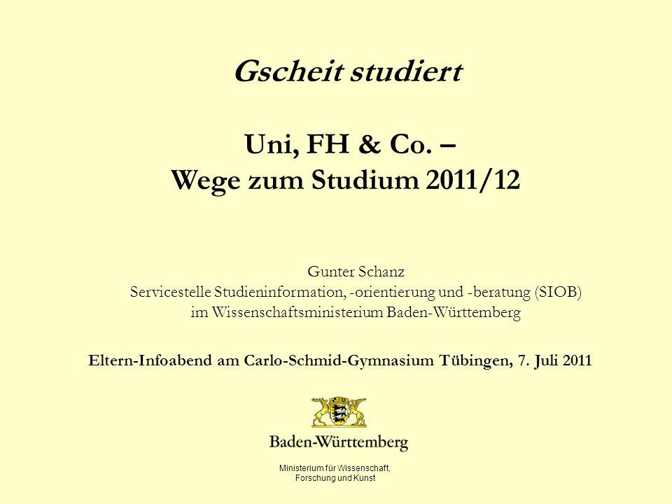Eltern-Infoabend am Carlo-Schmid-Gymnasium Tübingen, 7. Juli 2011