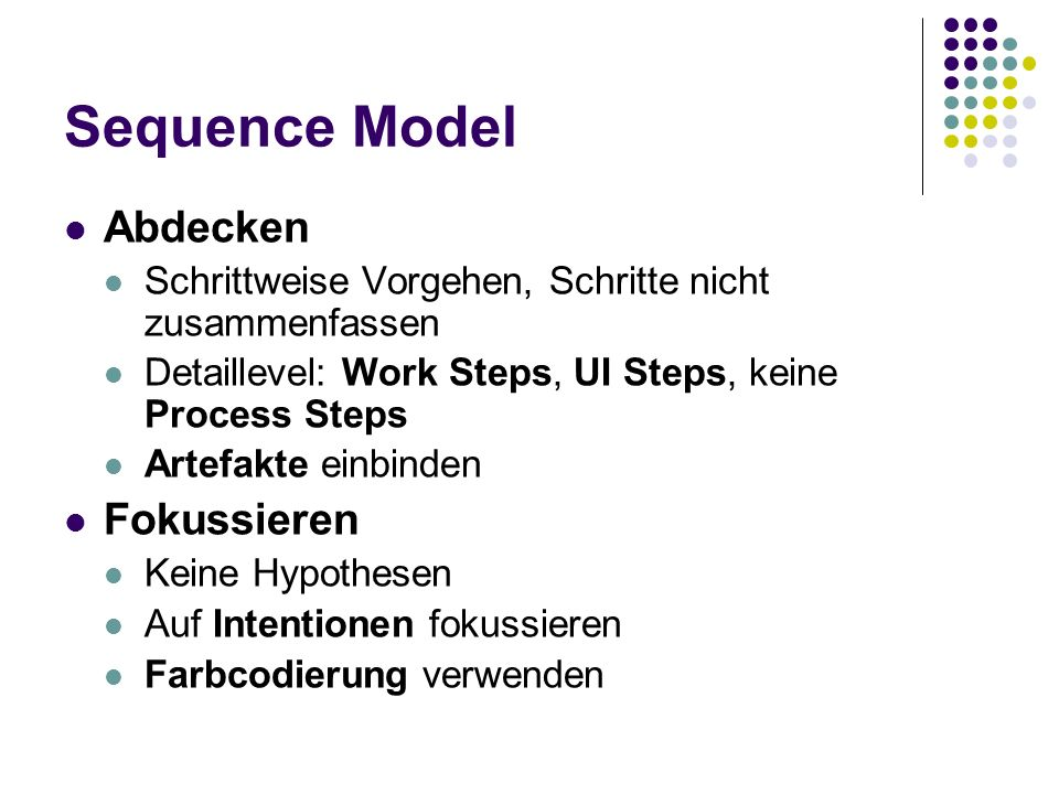 Sequence Model Abdecken Fokussieren