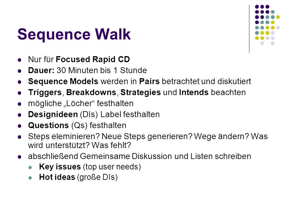 Sequence Walk Nur für Focused Rapid CD Dauer: 30 Minuten bis 1 Stunde